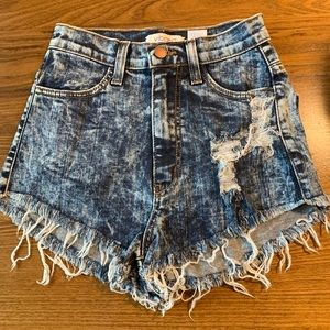 Size small vibrant high waisted shorts